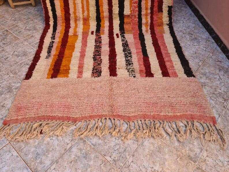 Vintage berber Boujad Rug -Area Rug - Moroccan rug - Vintage Rug - Berber Carpet - Handmade Rug Berber Rug Tribal Rug