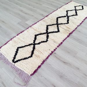 Vintage beni ourain berber boho Moroccan runner rug, 2'4'' X 8'0'' rug, Moroccan rug small, tapis marocain, Marokkanischer Teppich, Alfombra
