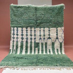 Green Custom Moroccan Rug, Authentic Moroccan rug, Berber carpet, Genuine Wool rug, Handmade rug, Area rug, Beni Ourain rug, wool rug