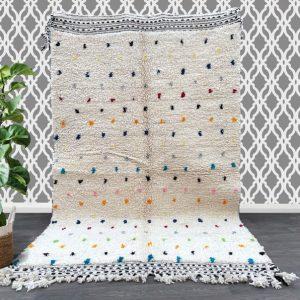Beni ourain rug 4.9 FTt x 8.2 FT , Moroccan rug, Berber carpet, Genuine Wool rug, Handmade rug, Beni ourain style, Beni Ouarain carpet