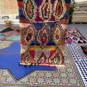 Boucherouite Moroccan Rug | Boucherouite Area Rug | Boucherouite Rug Berber