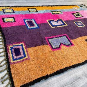 Fabulous Moroccan rug 6.7 FT x 10.0 FT - Authentic Moroccan Boujad Rug 7X10 - Berber tribal rug - Handmade Old Moroccan Rug - Berber carpet