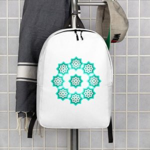 """water resistant minimalist Moroccan north African culture back-pack 15.6"""" laptop"""