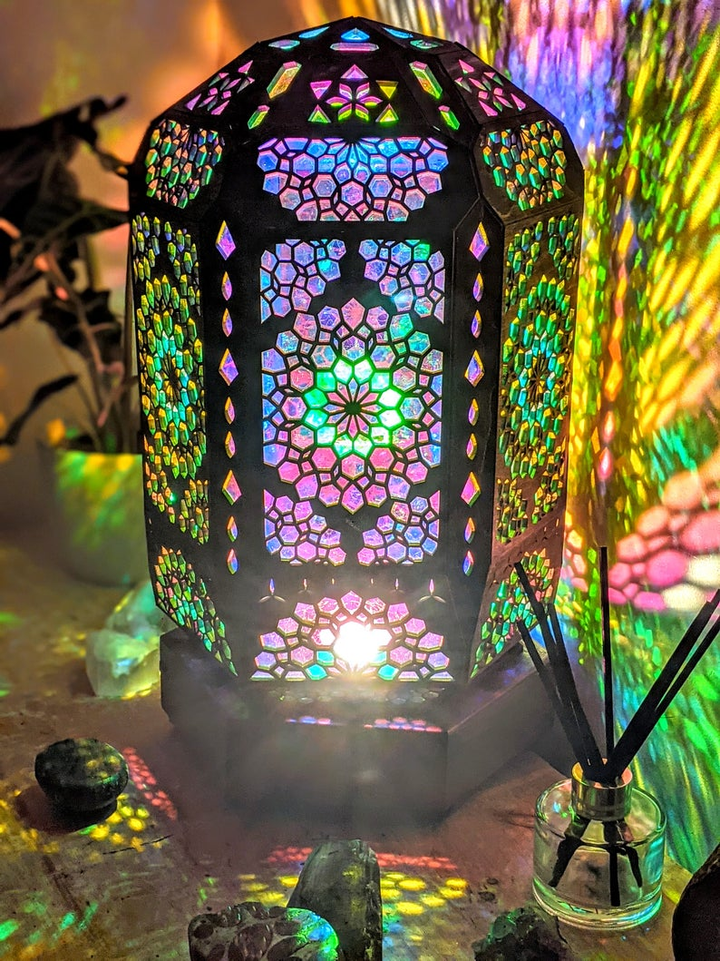 Table Lamp-READY TO SHIP-Desk Lamp- Bohemian Light- Lamp - Bohemian accessories-Home Decor- Gifts For Her- Gifts For Him-