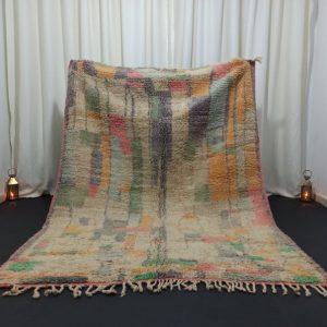 Moroccan Boujad Rug,5.6x7.4 Feet,Boujad Moroccan Carpet,Colorful Vintage Rug,Moroccan Berber Rug,Abstract Handmade Rug,Boujad Nomad Rug
