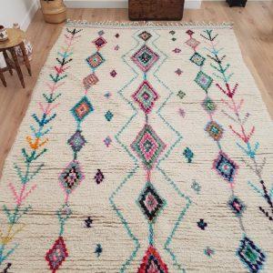 6x10 ft Moroccan Azilal Rug, Authentic Pink Moroccan Handmade Berber Carpet, Handwoven Wool Rug, Tribal Bohemian Area Rug - 312x188 cm
