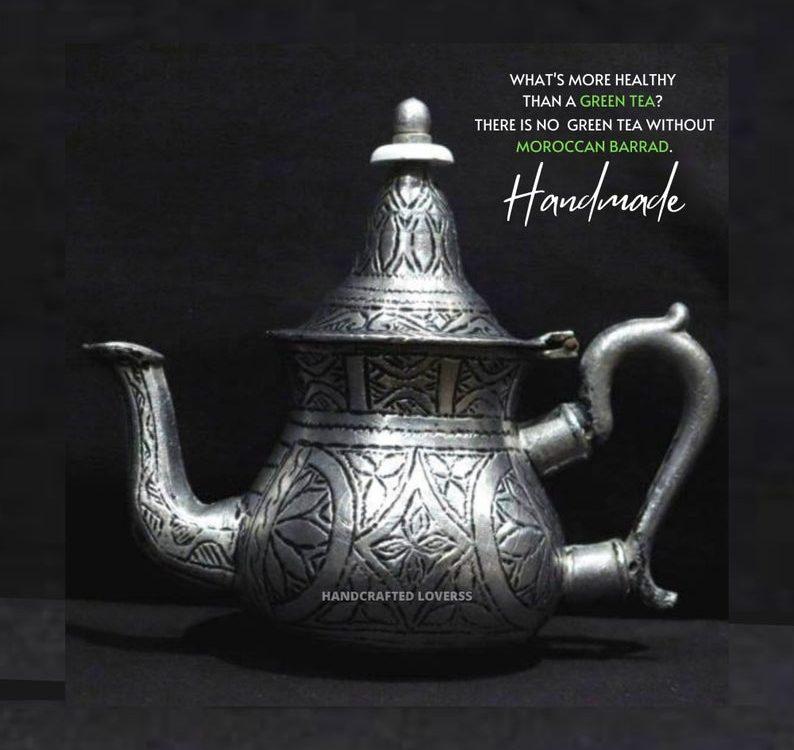 Handmade Moroccan Teapot/Moroccan Handmade teapot/Moroccan tea/green tea pot/ Home Decor/Moroccan Decor/Decor/Mint/teapot/Tea