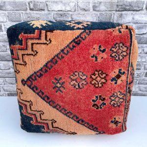 Stunning Moroccan Cushion, Handwoven kilim pouf, Beanbag, Yoga Meditation Cushion, Linen Connections, Ottoman, Footstool, Home Decor Gift