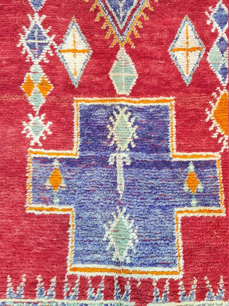 Morocco Vintage Beni Mguild Rug, Moroccan Beni Mguild Rug, Vintage Beni Mguild Rug, Moroccan Vintage Carpet, Morocco Rug