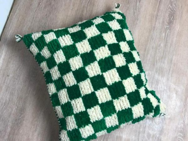 Moroccan pillow cover, Checkered pillow, berber pillow, cushion