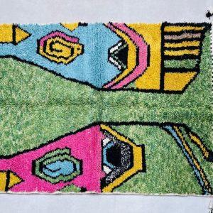CUSTOM Beni ourain rug - New Berber design Hand-Knotted Moroccan wool rug - berber carpet - FREE SHIPPING