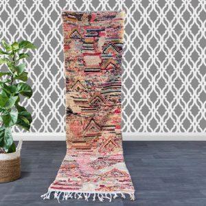 Authentic hallway runner rug 2.3 FT x 9.2FT ,Old Moroccon rug, Moroccan Boujad Rug ,Handmade Old Moroccan Rug ,Berber carpet 2X9