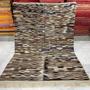 Authentic Berber Rug, Handwoven Rug, New Creation Kilim, Interior design ( 216x316 Cm )