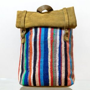 Fabulous Backpack Moroccan handmade, Kilim & Suede fabric, handcrafted bohemian style Free shipping worldwide