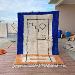 Maroc Beni Ourain Rug- Custom Handwoven Azilal Rug Handmade wool Carpet #12