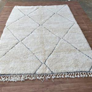 CUSTOM Beni Ourain Rug- White & Black beni Ouarain carpets / Azilal berber Rugs #C1