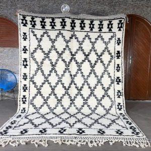 Beni ourain rug - Wool Moroccan rug - Berber rug - Custom size rug - Free shipping - Moroccan area rug - Moroccan rug hand knotted
