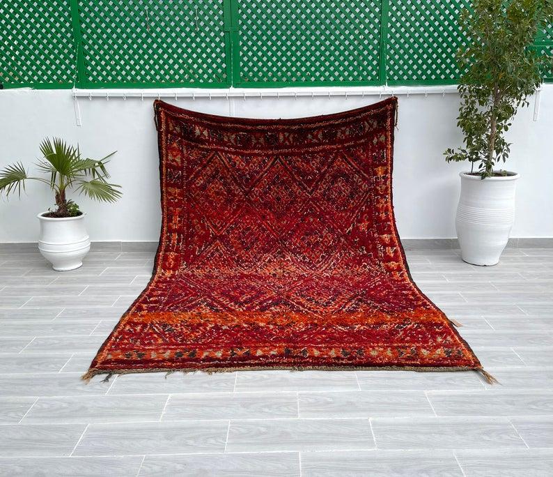Tapis beni mguild-Tapis marocains, Tapis marocain, fait main, tapis berbère, tapis marocain vintage, tapis marocain, tapis marocain