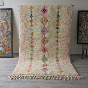 beni ourain vintage rug azilal handmade MOROCCAN BERBER
