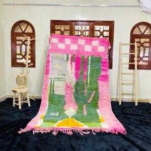 Gorgeous Moroccan rug , Handmade Boujad Rug, Azilal Colorful rug, Authentic Moroccan, Geometric Berber Carpet, Bohemian rug, Tapis Marocain