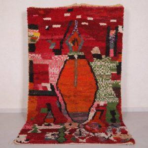 Antique Moroccan rug 4.8 FT X 8.4 FT - Vintage berber rug - Boujaad rug - berber rug 5x8