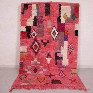 Vintage Moroccan rug 5 FT X 8.4 FT- Antique berber rug - Handmade rug - Moroccan shag rug - Berber rug - Hand knotted rug - Wool rug