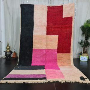 Boujaad Moroccan Rug, Patchwork Authentic Rug, Colorful Tribal Rug, Sheep Wool Rug, Bohemian Rug, Berber Carpet, Tapis Marocain.