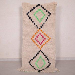 Vintage Moroccan rug 2.8 FT X 6 FT - Antique berber rug - Handmade rug - Moroccan shag rug - Berber rug - Hand knotted rug - Wool rug