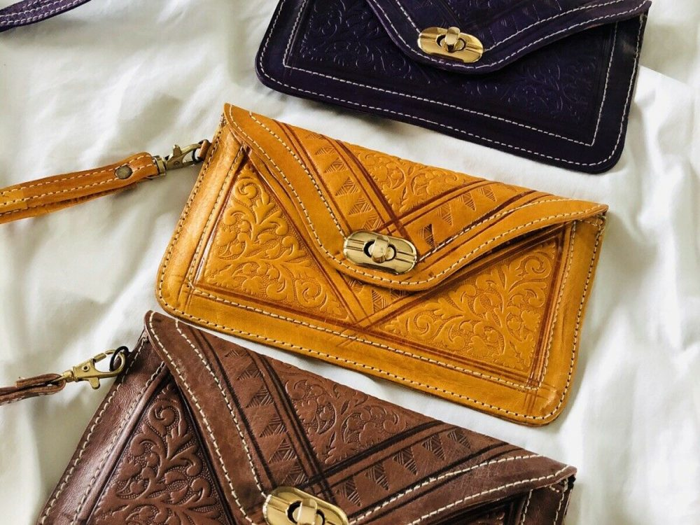 Handmade Moroccan leather clutch,Leather Handbag Purse Moroccan