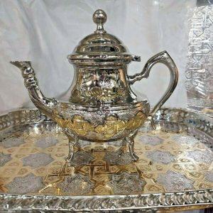 Moroccan Tea Serving Tray Set 1 Teapot 1 Tray *NEW*