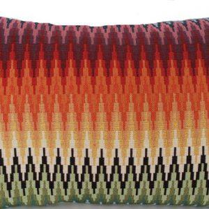 Oriental Cushion Cover Zig Zag Pillow Throw Case Woven Fez Morocco Cotton Fabric Red Orange Green Duckegg