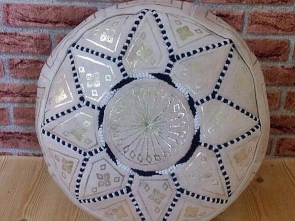 Moroccan pouf leather pouf. Handmade ottoman pouf stool, handmade puff, moroccan pouffe moroccan pouf