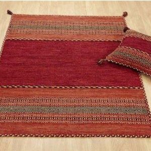 Red Kilim Rug, Moroccan Rug, Moroccan Kilim Carpet, Tribal Floor Rug, Handmade Red Kelim, Boho Style Rug, 120 x 170cm