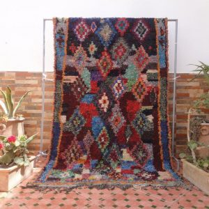 boucherouite rug vintage bohemian rug moroccan berber