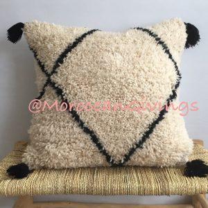 Moroccan Cushion / Vintage Moroccan Beni Ourain Pillow Wool /Cushion Cover   Pillow Cover / Vintage Cover / 50 x 50 cm ( 19.68 x 19.68 in)