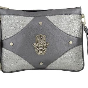 Embroidered Silver Clutch Wallet | Silver Clutch Wallet