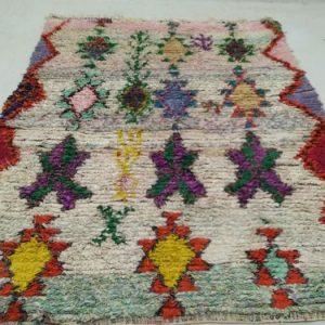 Boucherouite woven Vintage rug 5x8, Moroccan berber Bohemian azilal rugs!