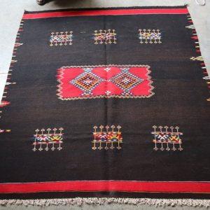 Moroccan Flat Weave Kilim Wool Rug