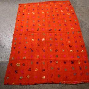 3.5 X 5 foot Vintage Moroccan Flat Woven kilim Rug,Beautiful Tribal Orange Color Berber Moroccan Kilim Rug,-DISCOUNTED PRICE