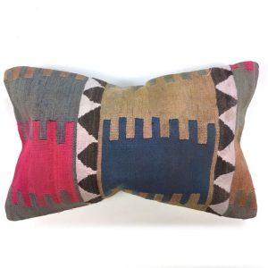 Handmade Kilim Cushion Cover, 50x30 cm, 20x12 in Antique Vintage Boho, Decorative, Turkish Kilim, Kelim Pillow Moroccan, Ethnic