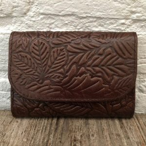 Genuine leather blue wallet, Handmade Moroccan wallet, Vintage handbag, Bohemien bag, Anniversary gift, Real leather purse, Women wallet