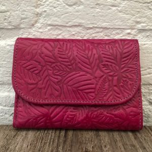 Genuine leather pink wallet, Handmade Moroccan wallet, Vintage handbag, Bohemien bag, Anniversary gift, Real leather purse, Women wallet