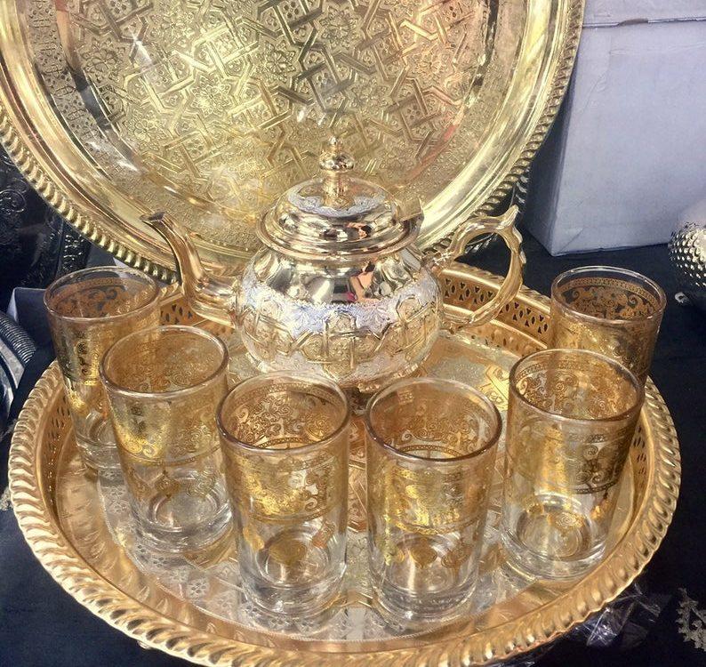 Moroccan Handmade luxurious Tea Set