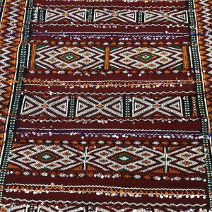 Moroccan handmade traditional multicoloured kilim rug