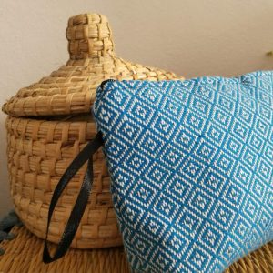 Handwoven make-up bag, Moroccan bag, Cotton pouch, Colorful pouch, Moroccan clutch set, Moroccan wallet, Boho pouch