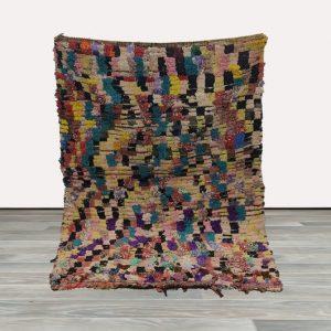 4x5 boucherouite rug, moroccan area rug, boujaad area rug, vintage moroccan berber rug.