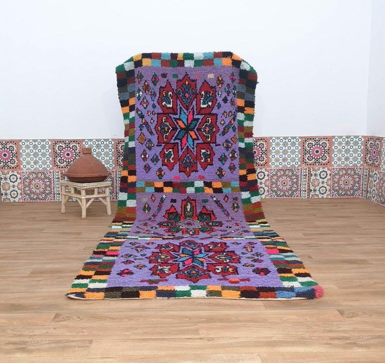 Azilal Rug, Runner Rug, Tribal Moroccan Rug, Berber Carpet, Boucherouite Rug