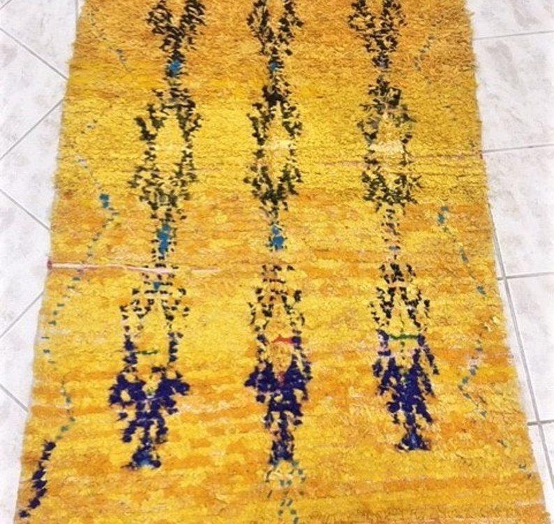 Boucherouite Rug Kilim Rug Carpet Berber Rug Bouchrouitte Tapis marocain Moroccan Rug Orient Rug Vintage Marrakech carpet kleed