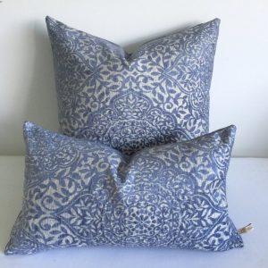 blue moroccan throw pillows