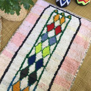 BABY MOROCCAN Boucherouite RUG |Laila|Nursery Kids Decor|Boho Rug|Small Rug|2.3 x 3.6